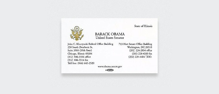 Barack Obama, former USA Senator