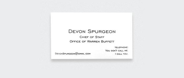 Devon Spurgeon, Office of Warren Buffett