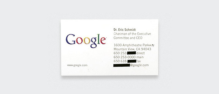 Dr. Eric Schmidt, Google