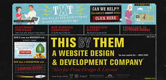 Сайты в стиле ретро