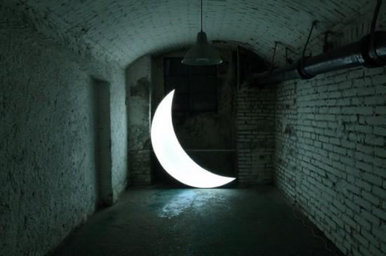 креативный фотограф Леонид Тишков - луна