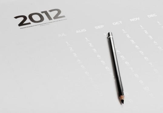 BLANK poster calendar на 2012 год