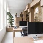 Креативный дизайн интерьера офиса из картона