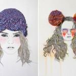 Необычные текстуры в простых иллюстрациях от Izziyana Suhaimi