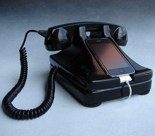 iRetrofone iPhone Dock & Handset, гаджеты iphone, iphone, iphone гаджеты, Гаджет для iphone,