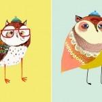 Стильные принты с совами от Ashley Percival