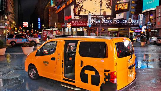 Желтое такси фото (2)
