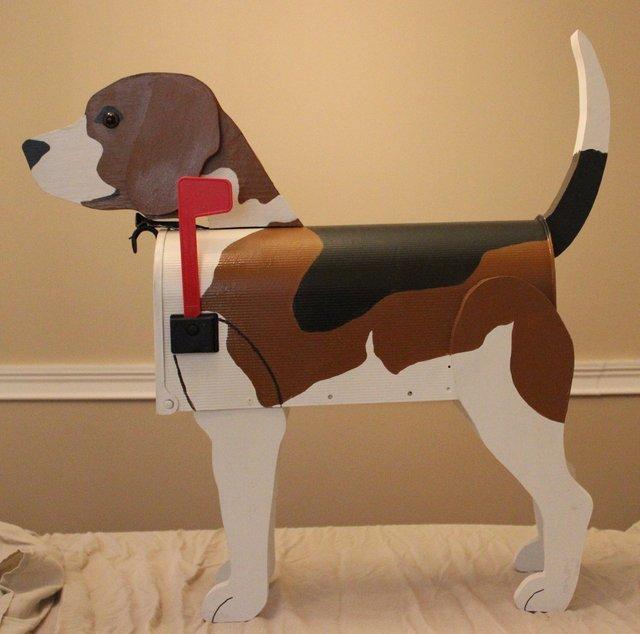 почтовый ящик в виде собаки