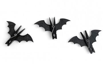 Зажимы (прищепки) в виде летучих мышей. Идеально на Хэллоуин