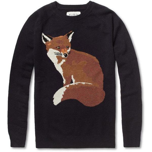 Мужской свитер с лисой от AUBIN & WILLS