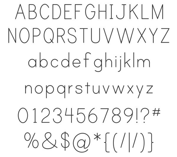 скачать красивые шрифты Print-Clearly