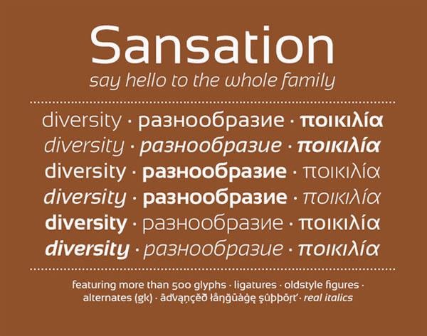 скачать красивые шрифты Sansation