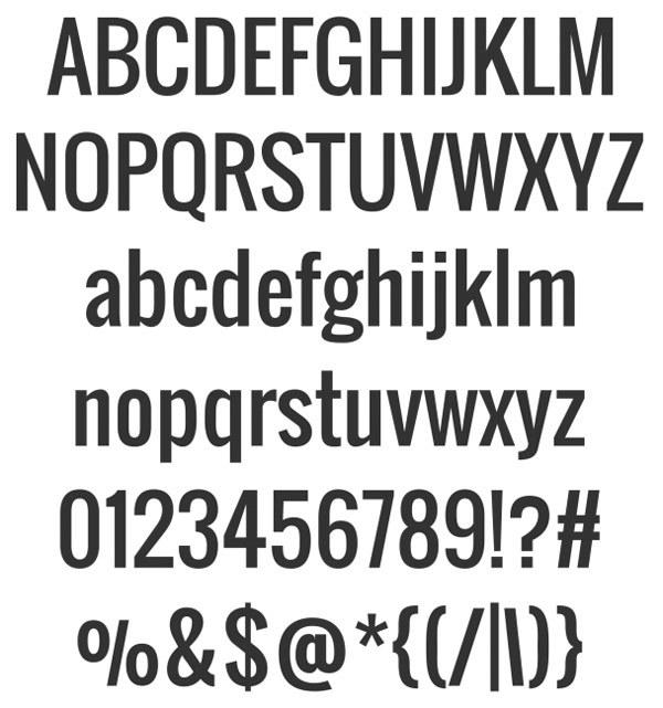 скачать красивые шрифты oswald