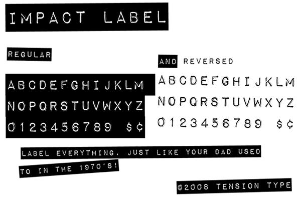 скачать красивые шрифты Impact-Label