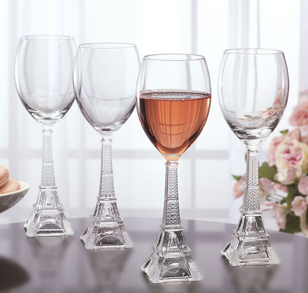 Необычные бокалы для вина Eiffel Tower