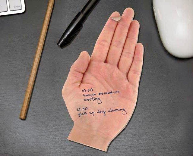 Необычный блокнот в виде ладошки Hand Sticky Notes