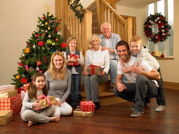 Новогодняя семейная фотография