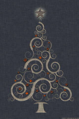 iPhone Christmas Wallpaper Retro