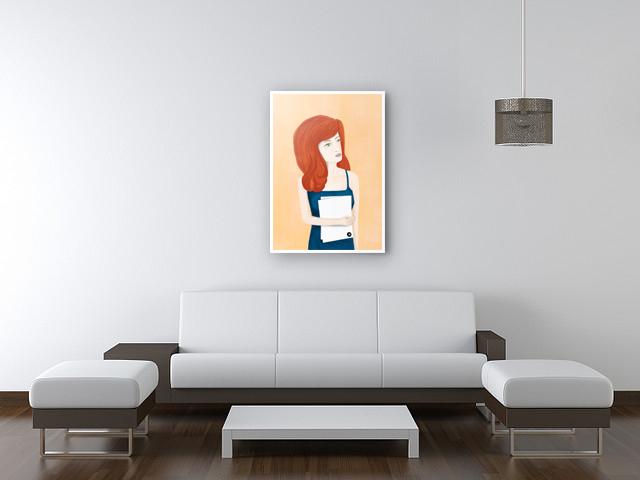 постер на стену с девушкой