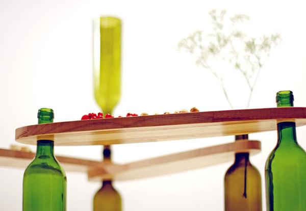 Винные бутылки в дизайне интерьера