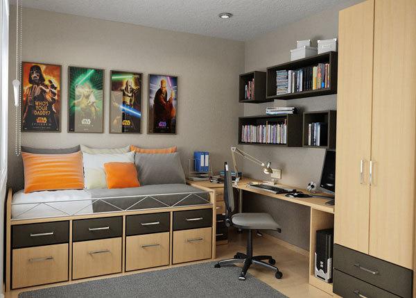 Интерьер небольшой комнаты для подростка