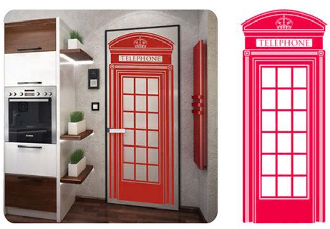 Телефонная будка на дверь