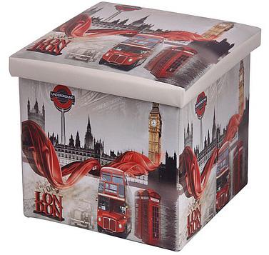 короб-пуф для хранения в стиле Лондон