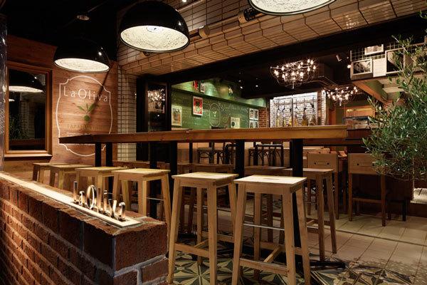Дизайн интерьера ресторана La Oliva