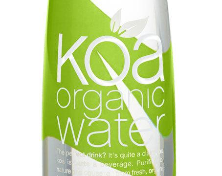 Интересный дизайн упаковки Koa organic-water