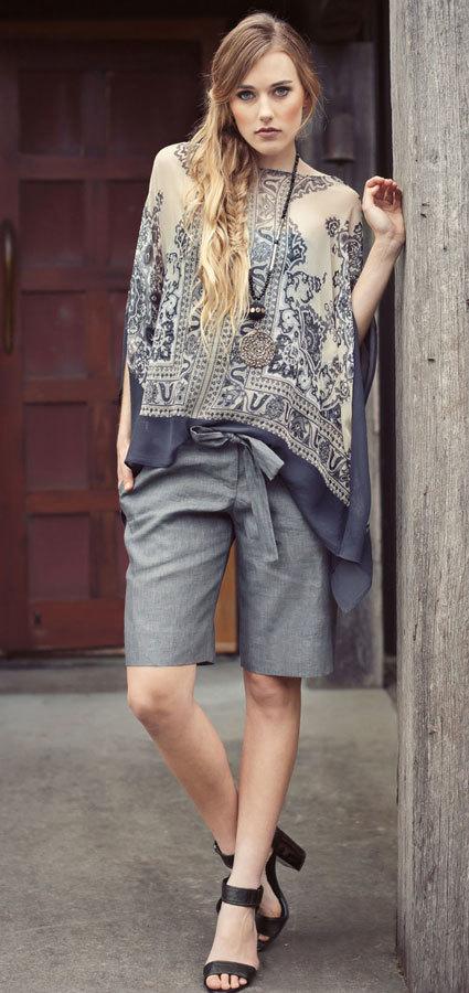 классический стиль и шорты бермуды