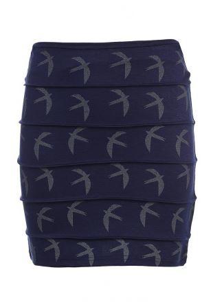 мини-юбка People с ласточками