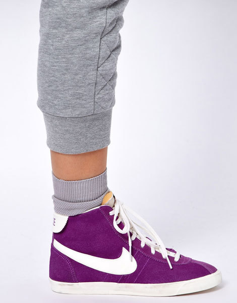 Высокие фиолетовые кроссовки Nike Bruin Lite