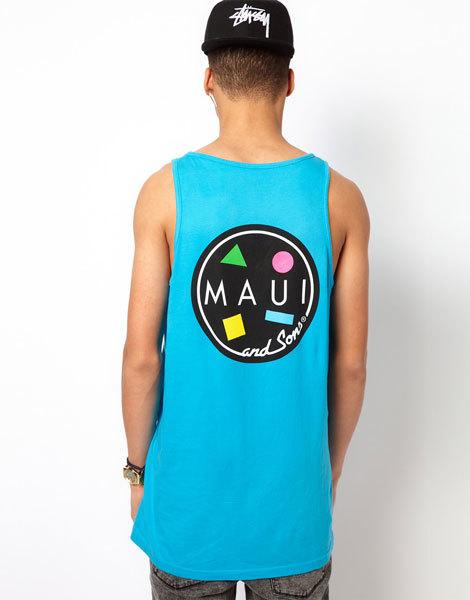 Майка-с-круглым-принтом-и-логотипом-на-спине-Maui-And-Sons