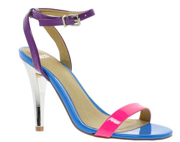 Босоножки на каблуке ASOS HENLEY в мульти расцветке