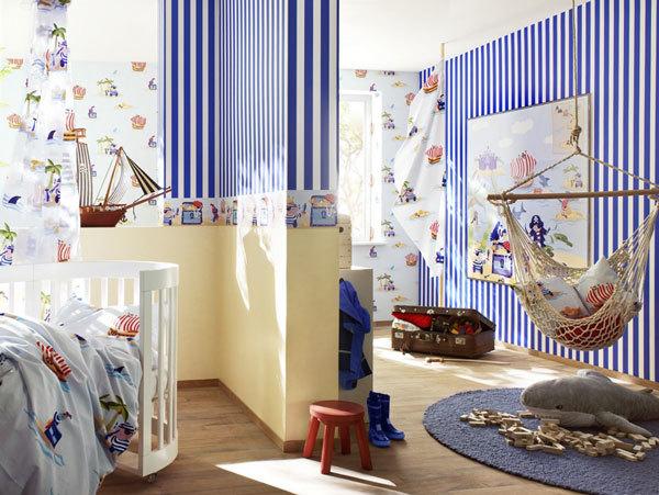 обои для детской комнаты в пиратском стиле