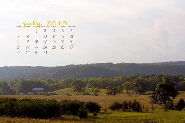 Дизайнерские календари-обои на рабочий стол для июля 2013 Mandi-Ehman