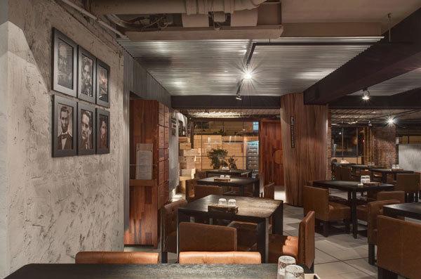Дизайн интерьера итальянского ресторана Baffi в Тайване