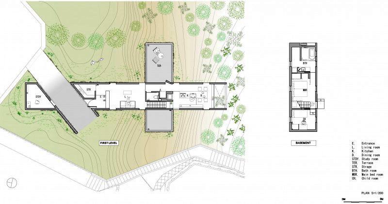 Современный японский дом план-схема (1)