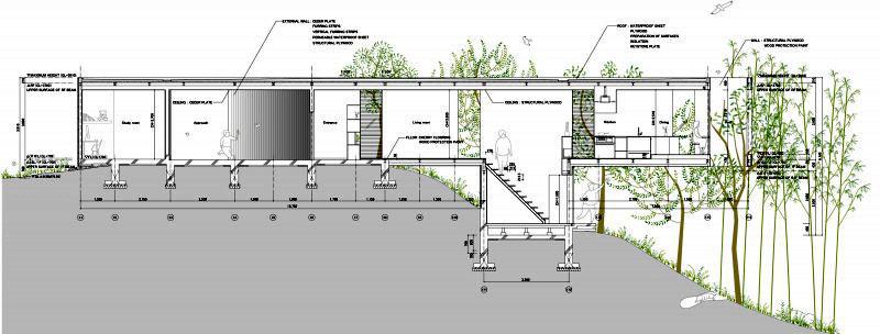 Современный японский дом план-схема (2)