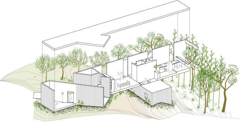 Современный японский дом план-схема (4)