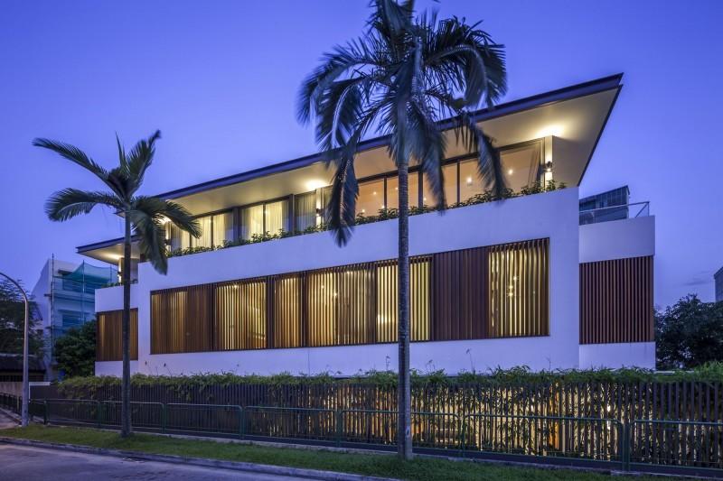 Sunny Side House вечернее освещение