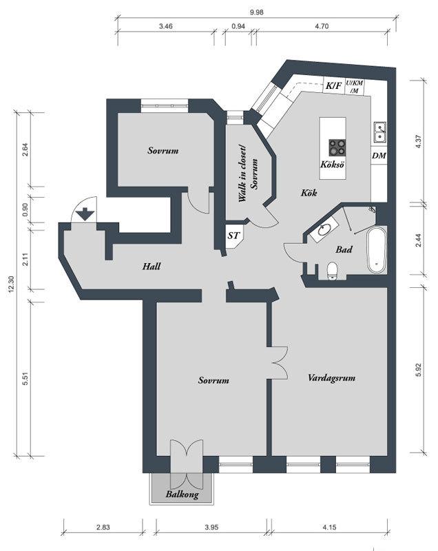 Современная квартира. Швеция (8)