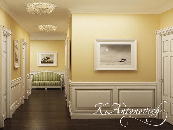Дизайн интерьера в классическом стиле: красивые картины на стенах