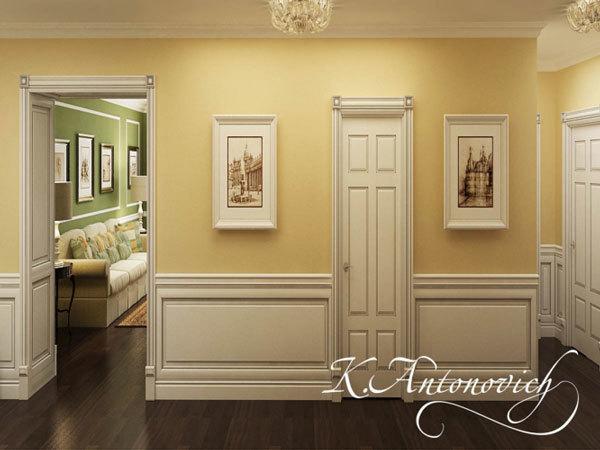 Дизайн интерьера в классическом стиле. Потрясающее оформление коридора