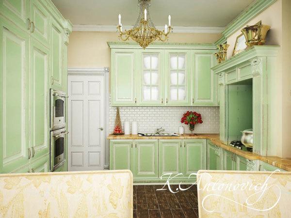 Кухня в стиле прованс в ЖК Айвазовский Москва