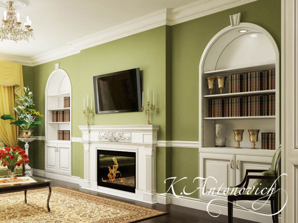 дизайн интерьера в классическом стиле (4)