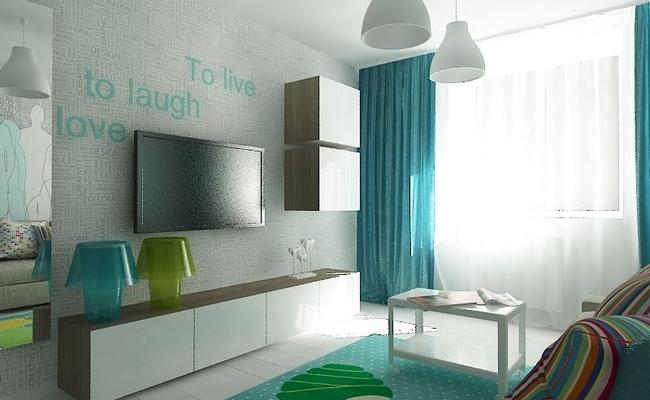 дизайн интерьера для однокомнатной квартиры фото (3)