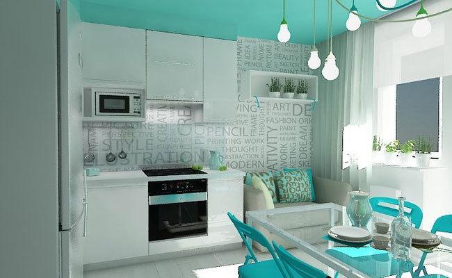 дизайн интерьера для однокомнатной квартиры (1)