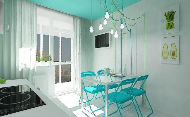 дизайн интерьера для однокомнатной квартиры (2)