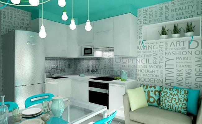 дизайн интерьера для однокомнатной квартиры (3)